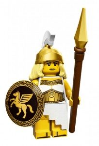 history of collectible minifigures: battle goddess