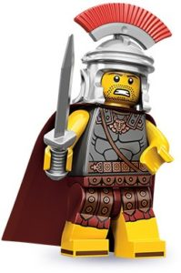 history of collectible minifigures: roman commander
