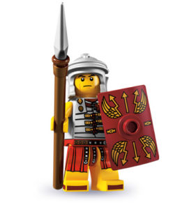 history of collectible minifigures: roman soldier