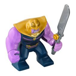 Thanos big figure from LEGO set 76107