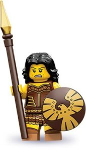 history of collectible minifigures: warrior woman