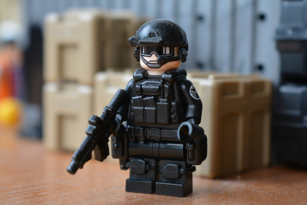 Custom LEGO Army Minifigures - Black SHIELD STRIKE Trooper