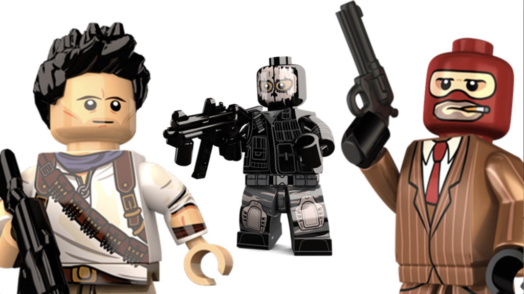 LEGO Video Games - Nathan Drake, Ghost and the Spy