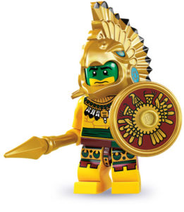 historical minifigures: aztec warrior