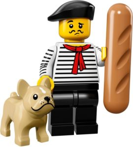 lego connoisseur and his pet bulldog