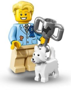 lego dog show winner and his pet terrier