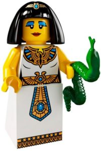 lego Egyptian queen and her pet snake