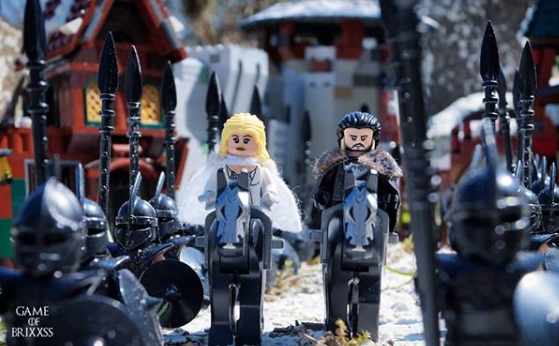 lego game of thrones season 8 opening scene