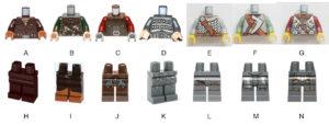 lego torsos for wildlings