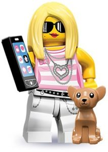 lego trendsetter and her pet chihuahua