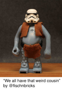 Stormtrooper disguised as a Troll