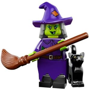 lego wacky witch and her pet cat