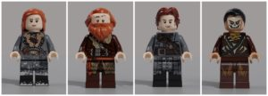 lego game of thrones wildling minifigures