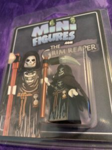 front of LEGO Grim Reaper package