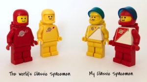 Lego classic space vs Futuron minifigures