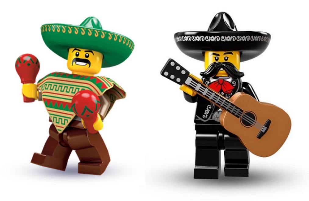 LEGO Mariachi Minifigure with Guitar Music