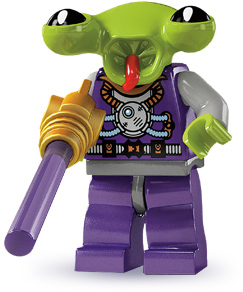 lego space alien minifigure