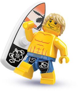 summer minifigures surfer
