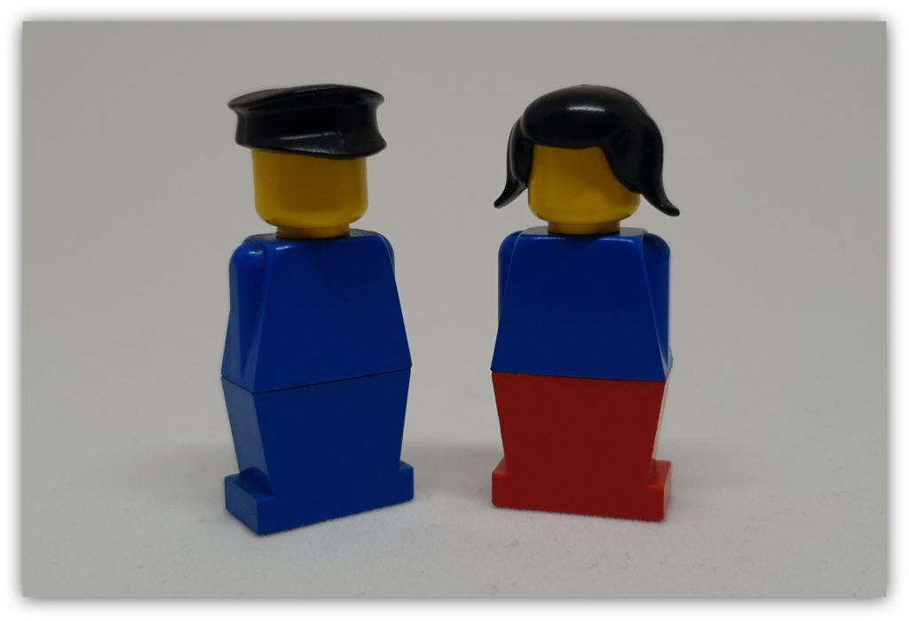 first LEGO hair pieces
