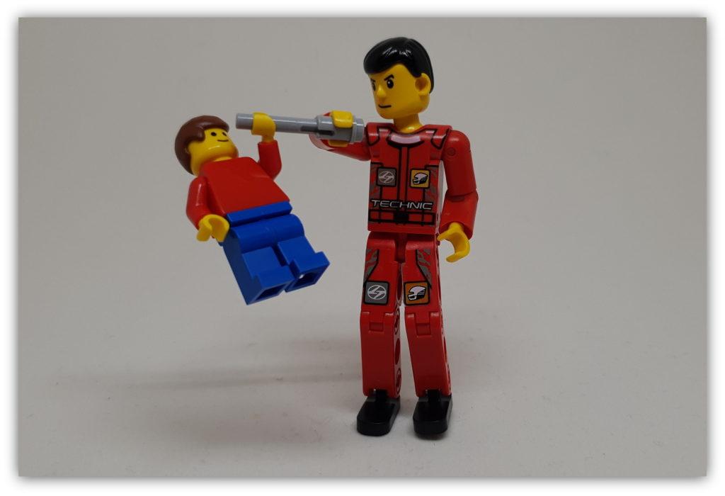 LEGO Accessories GRAY HAND GUN of 6 New