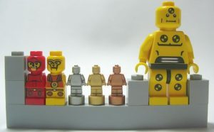 LEGO Microfigures, Minifigures, and Nanofigures