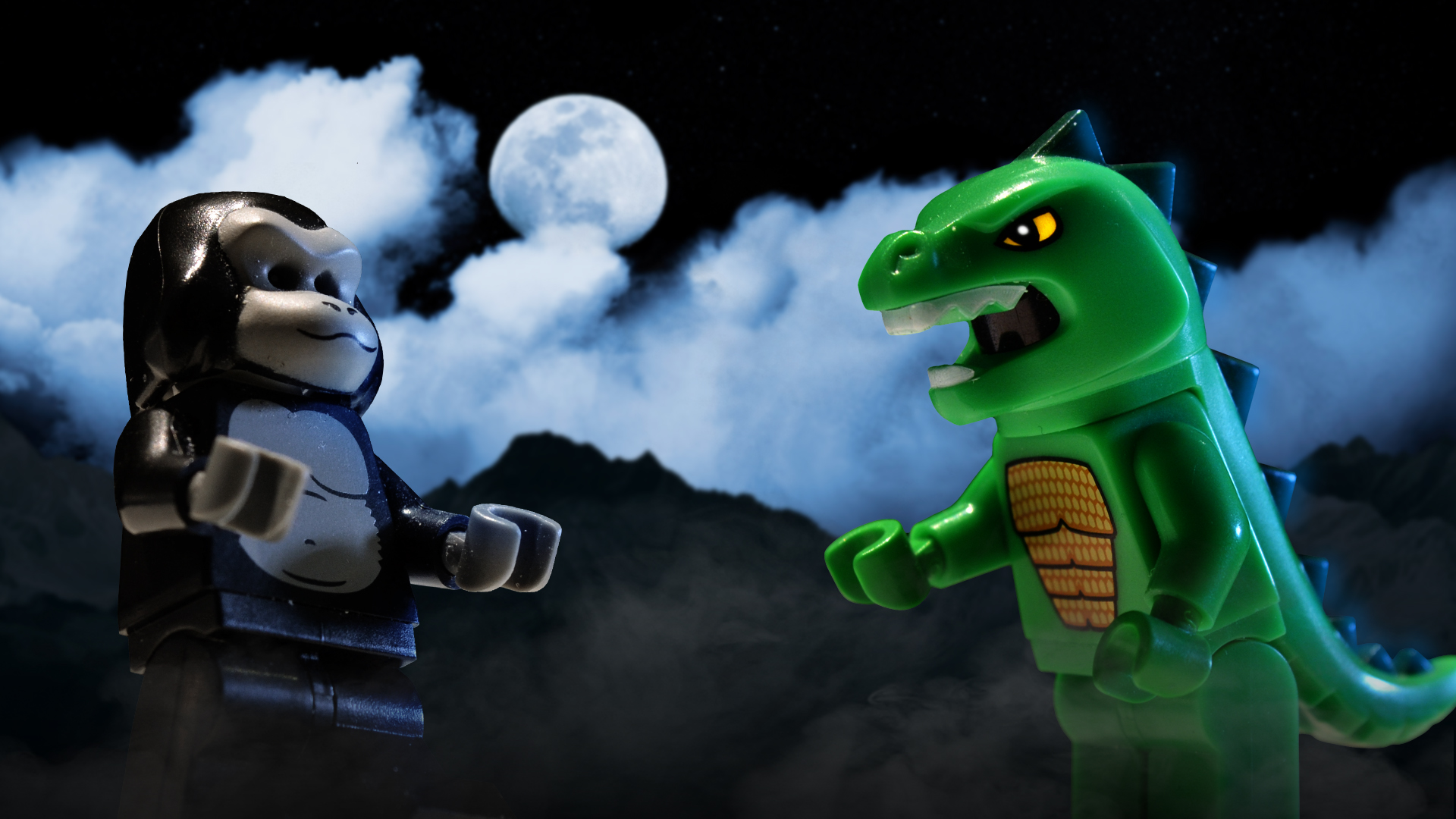 lego godzilla and king kong