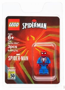 sdcc exclusive lego spiderman minifigure
