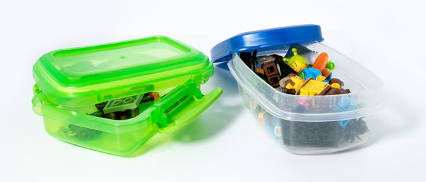 Storage for LEGO parts by Teddi Deppner