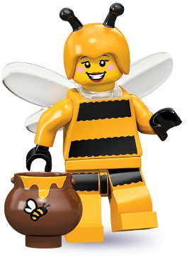 animal costume minifigures: bumblebee