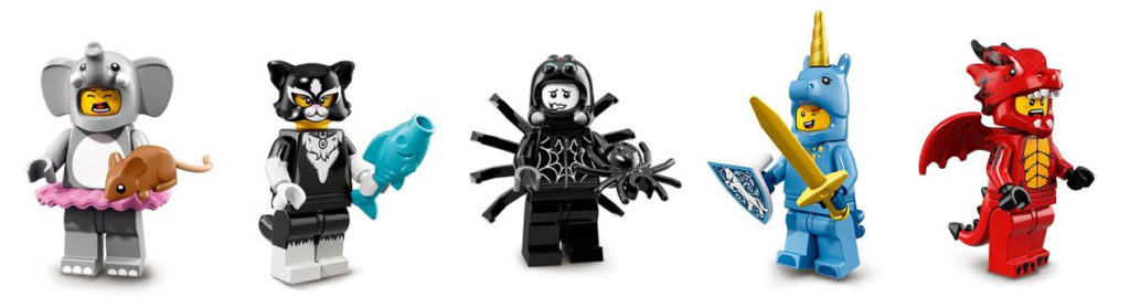 lego minifigures in costume: cmf 18