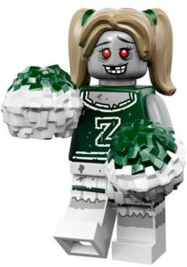 lego monsters cmf zombie cheerleader