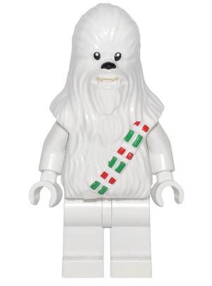 LEGO Star Wars advent calendar snow chewbacca