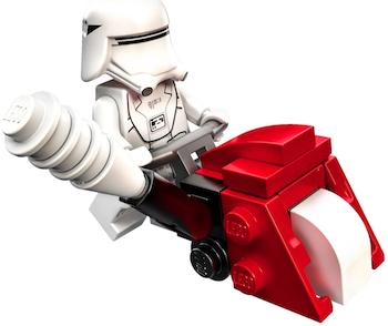 LEGO Star Wars advent calendar snowtrooper and snowblower