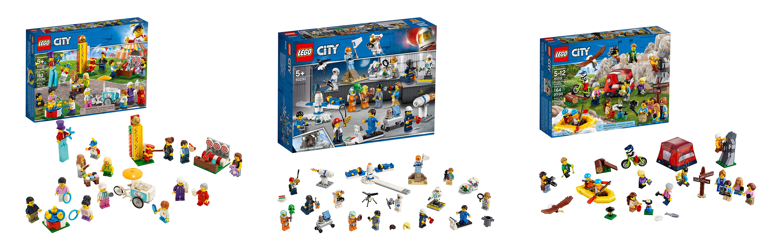 world of lego minifigures: people pack sets