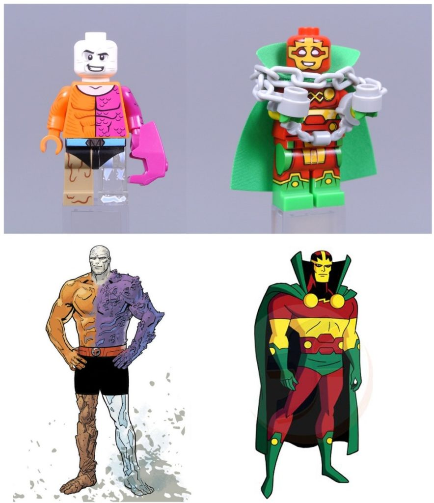 lego dc cmf metamorpho and mr. miracle