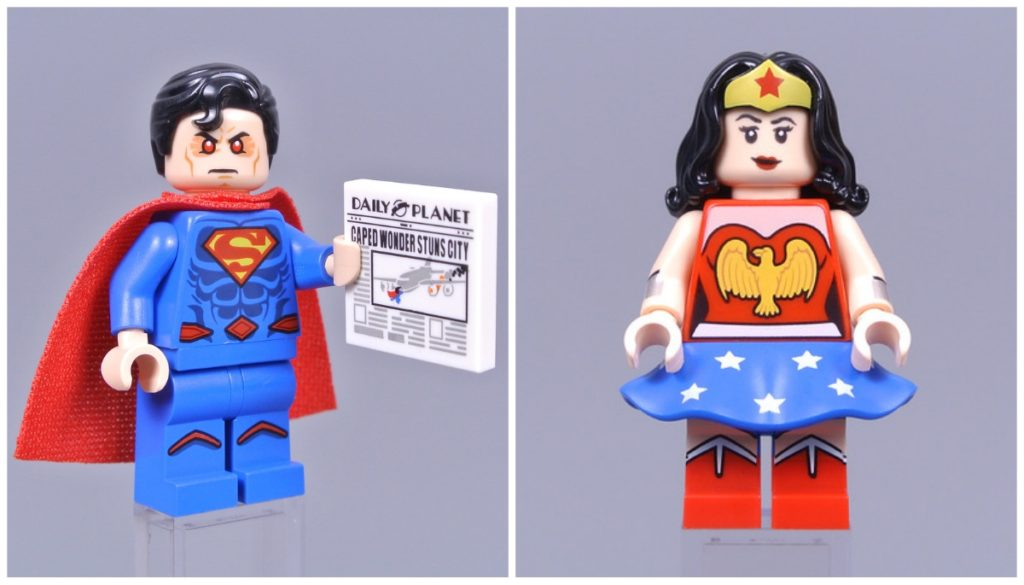 lego dc cmf superman and wonder woman