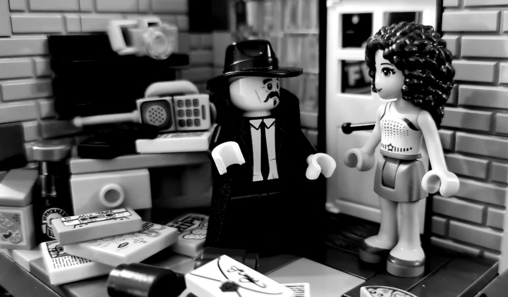 film noir detective the office