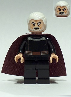 star wars lego minifigures count dooku